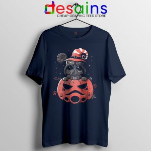 Darth Vader Pumpkin Navy T Shirt Halloween Gifts