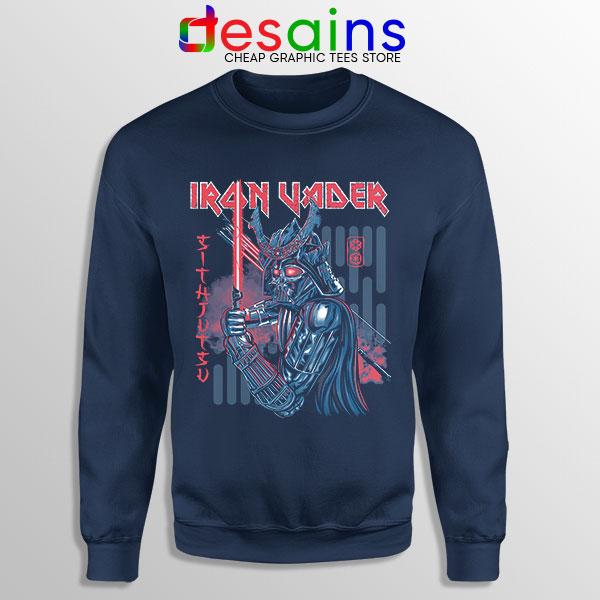 Iron Vader Maiden Samurai Navy Sweatshirt Star Wars