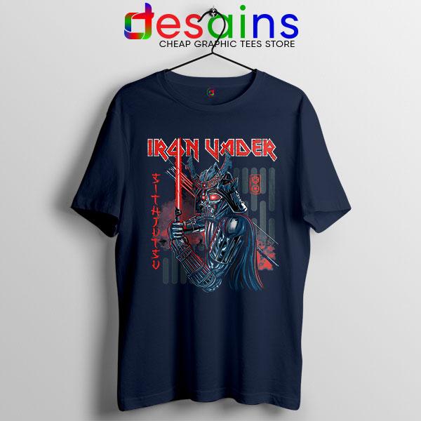 Iron Vader Maiden Samurai Navy Tshirt Star Wars