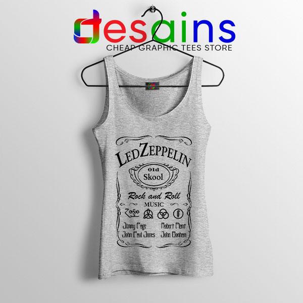 Led Zepelin Whiskey Sport Grey Tank Top Old School Daniels