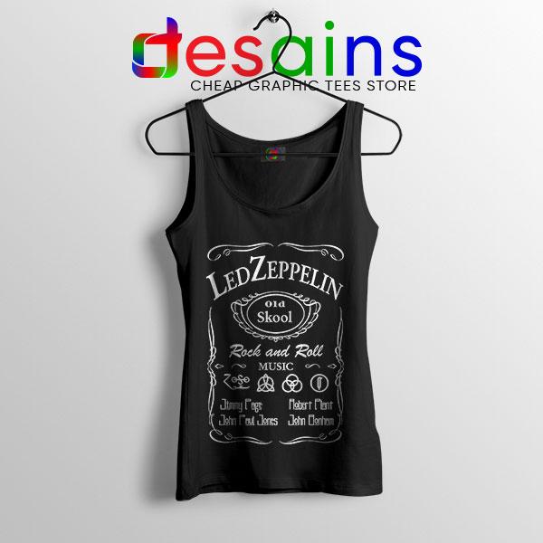 Led Zepelin Whiskey Tank Top Old School Daniels