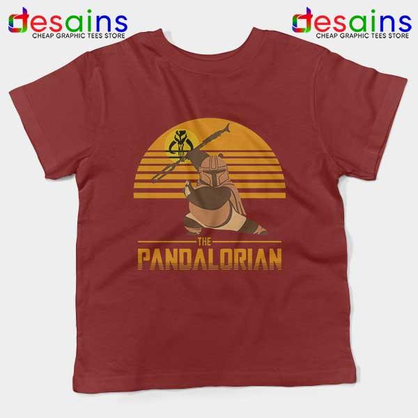 Master Po Mandalorian Red Kids Tee Kung Fu Panda