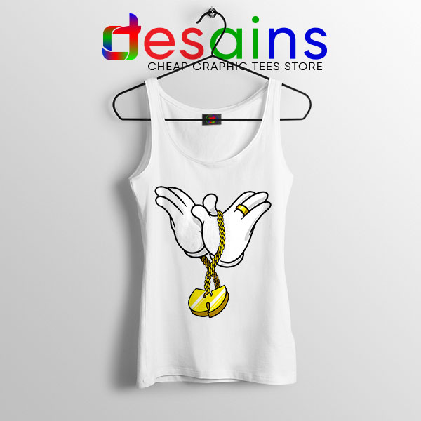 Mickey Gloves Wu Tang Chain White Tank Top Cheap Funny