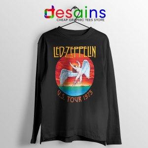 North American Tour 1975 Black Long Sleeve Tee Led Zeppelin