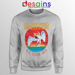 North American Tour 1975 Sport Grey Sweatshirt Led Zeppelin Merch