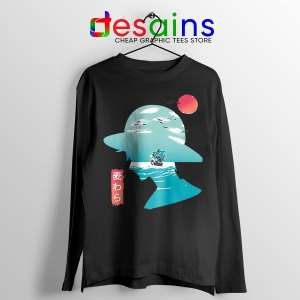One Piece Good Day to Sail Black Long Sleeve Tee Monkey D Luffy