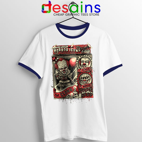 Pennywise The Clown Bobblehead Navy Ringer Tee IT Movie