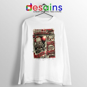 Pennywise The Clown Bobblehead White Long Sleeve Tee IT Movie