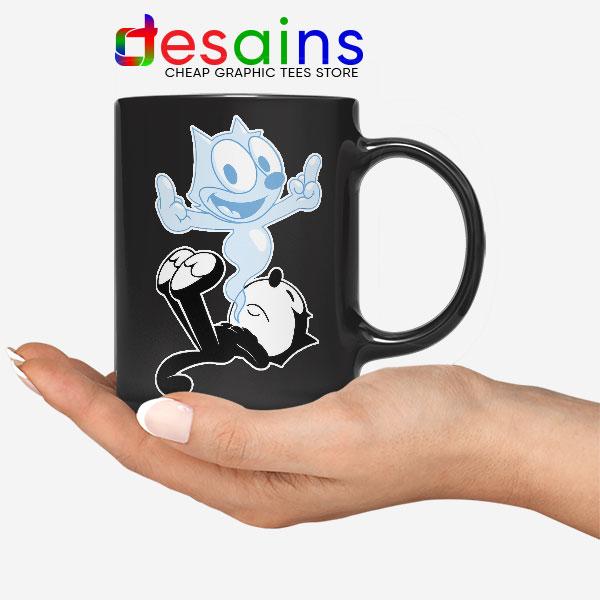 RIP the Cat Felix Funny Black Mug Cartoon Characters