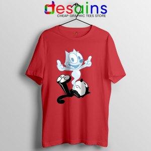 RIP the Cat Felix Funny Red T Shirt Cartoon Characters