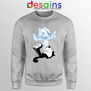 RIP the Cat Felix Funny SPort Grey Sweatshirt Cartoon Characters