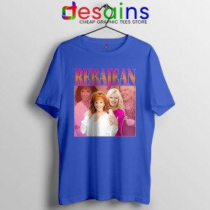 Reba McEntire Vintage Blue Tshirt RebaJean 90s