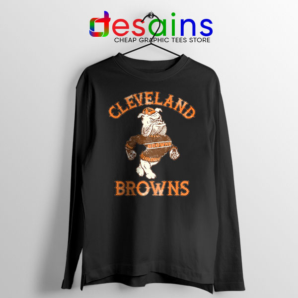 Retro Symbol Cleveland Browns Black Long Sleeve Tee NFL