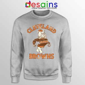 Retro Symbol Cleveland Browns Sport Grey Sweatshirt NFL