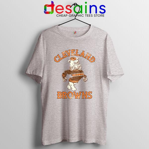 Retro Symbol Cleveland Browns Sport Grey Tshirt NFL