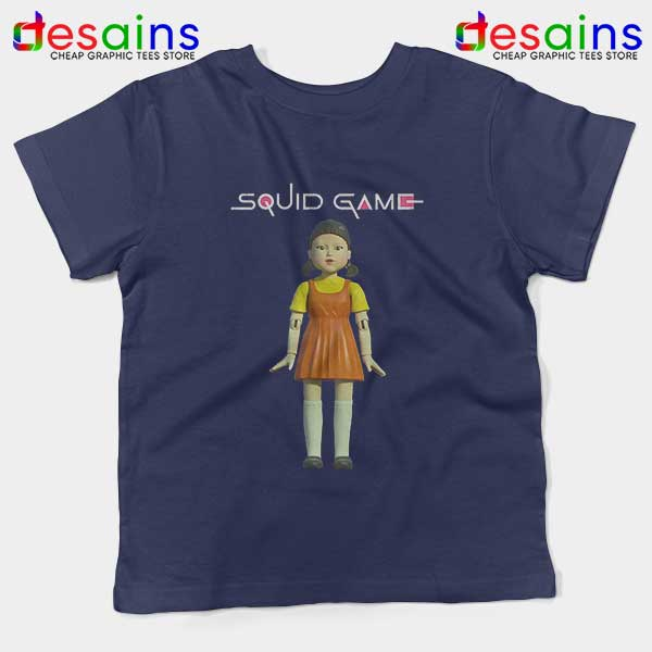 Squid Game Doll Mascot Navy Kids Tee Netflix Merch