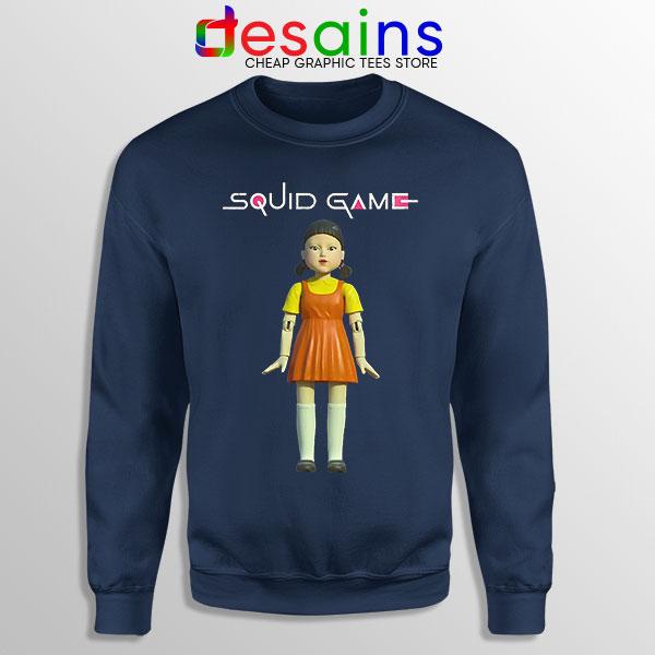 Squid Game Doll Mascot Navy Sweatshirt Netflix Merch