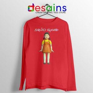 Squid Game Doll Mascot Red Long Sleeve Tee Netflix Merch