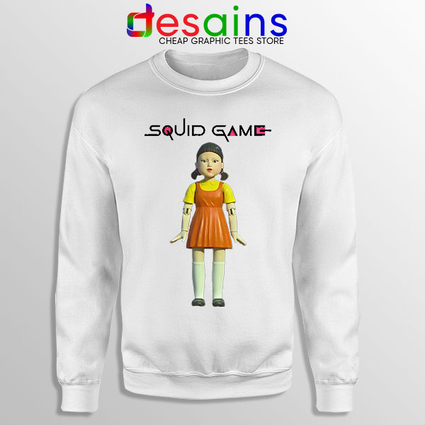 Squid Game Doll Mascot White Sweatshirt Netflix Merch