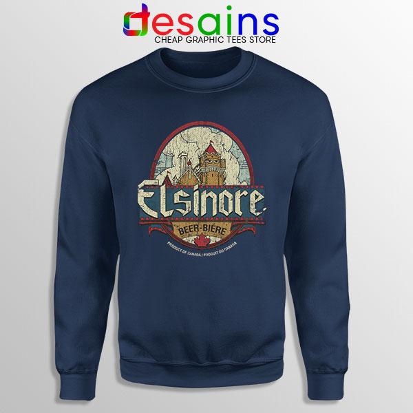 Strange Brew Elsinore Beer Navy Sweatshirt 1983 Canadian