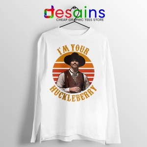 Vintage Your Huckleberry White Long Sleeve Tee Tombstone
