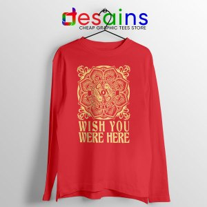 Wish You Were Here Art Red Long Sleeve Tee Pink Floyd Band