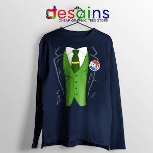 Best Loki President Suit Navy Long Sleeve Tee God of Mischief