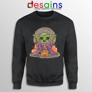 Funny Pumpkin Baby Yoda Halloween Sweatshirt