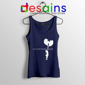 Girl With Cream Wu Tang Navy Tank Top Life As A Shorty