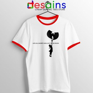 Girl With Cream Wu Tang Red Ringer Tee Life As A Shorty