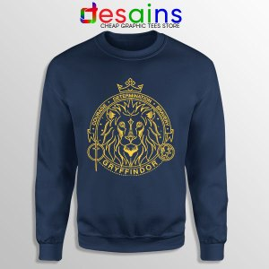 Houses of Hogwarts Lion Navy Sweatshirt Gryffindor
