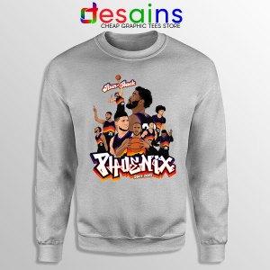 Phoenix Suns Roster Art Sport Grey Sweatshirt New Season