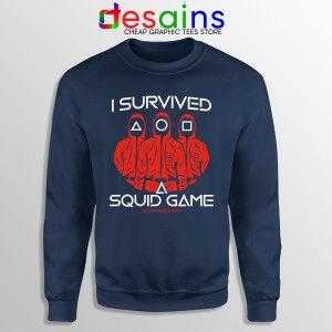 Squid Game Survivor Navy Sweatshirt Childrens Games