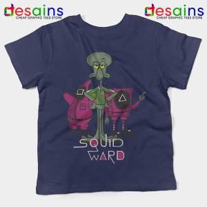 Squidward Squid Game Meme Navy Kids Tee SpongeBob