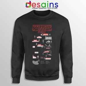 Stranger Things 4 Map Sweatshirt Hawkins Merch