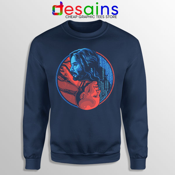 The Choice Matrix 4 Navy Sweatshirt Keanu Reeves