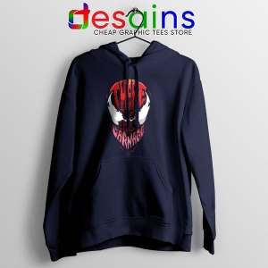 There is Only Carnage Navy Hoodie Symbiote Comics