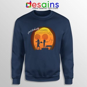 Time to Get Schwifty Rick Navy Sweatshirt Memes Morty