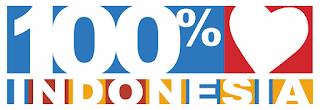 Logo 100 % Cinta Indonesia CDR PNG Vector HD