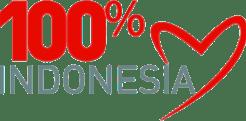 Logo 100 % Cinta Indonesia CDR PNG Vector HD baru