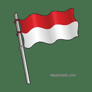 Bendera Indonesia Vektor PNG HD