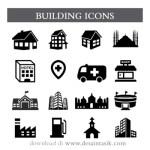 Icon bangunan denah lokasi