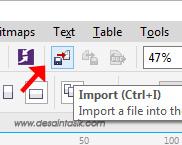 Icon Import / buka File dari Corel dari PDF, JPG, PNG, Ms Word