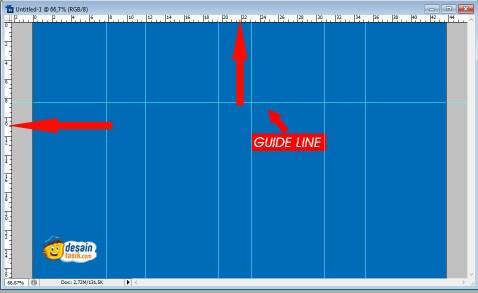 Cara Menghilangkan/Menghapus Guideline di Photoshop