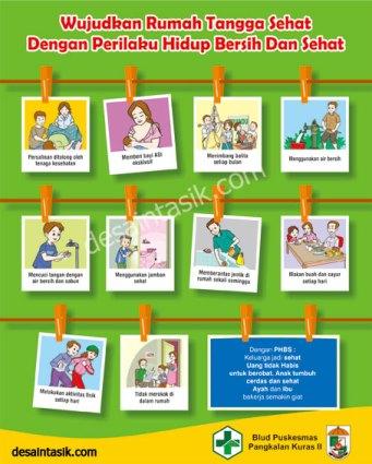 Poster Perilaku Hidup Bersih dan Sehat (PHBS)