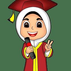 desaintasik-gambar-wisuda-kartun-anak-muslim-perempuan-vector