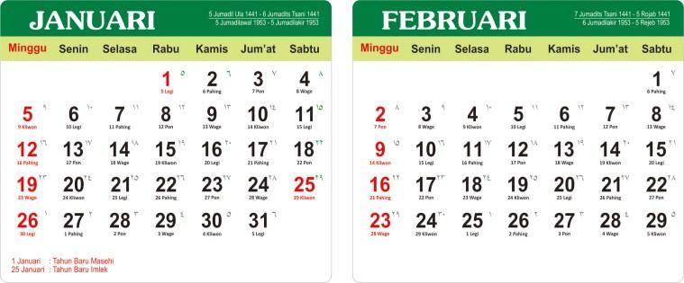 Download Kalender 2020 Corel-januari-Februari