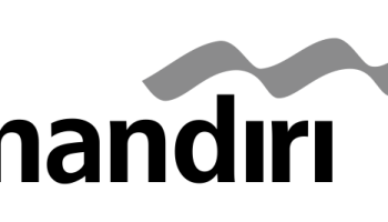 Logo bank mandiri bw