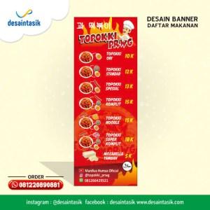 desaintasik-desain banner menu makanan topoki