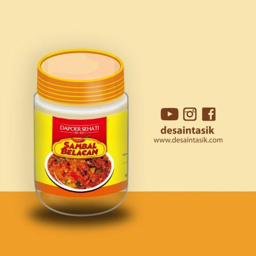desain stiker sambal belacan toples-desaintasik